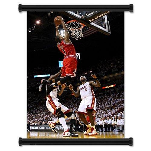 40,6/x 61/cm Derrick Rose Chicago Bulls NBA Player tessuto scorrimento a parete poster pollici