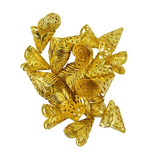 flower cone beads - 1