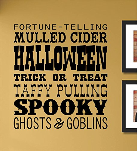 Slap-Art Halloween spooky ghosts Vinyl Wall Art Decal Sticker ()