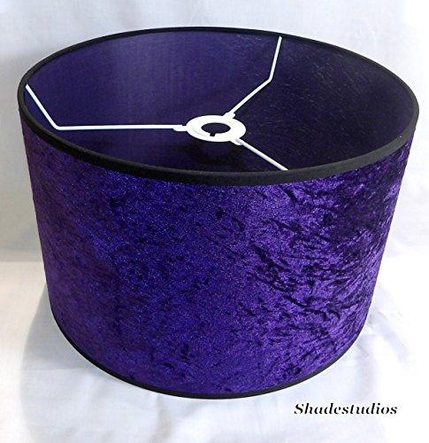 Hand made 16 purple crushed velvet lampshade amazon lighting aloadofball Image collections