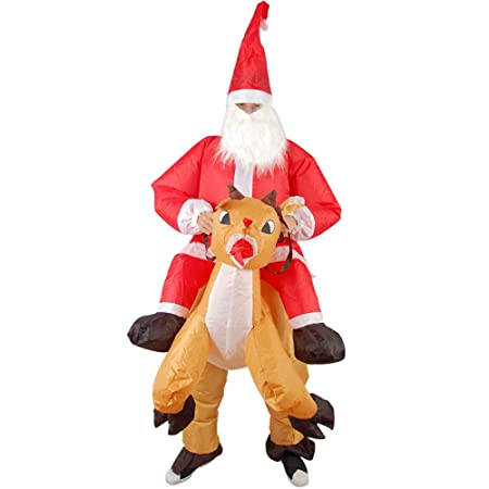 Yzibei Decoraciones del día de Navidad Traje Inflable de ...