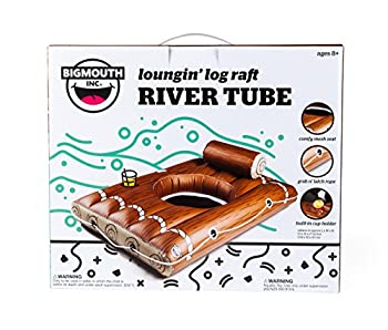 Bigmouth Inc Loungin' Log Raft River Tube 3