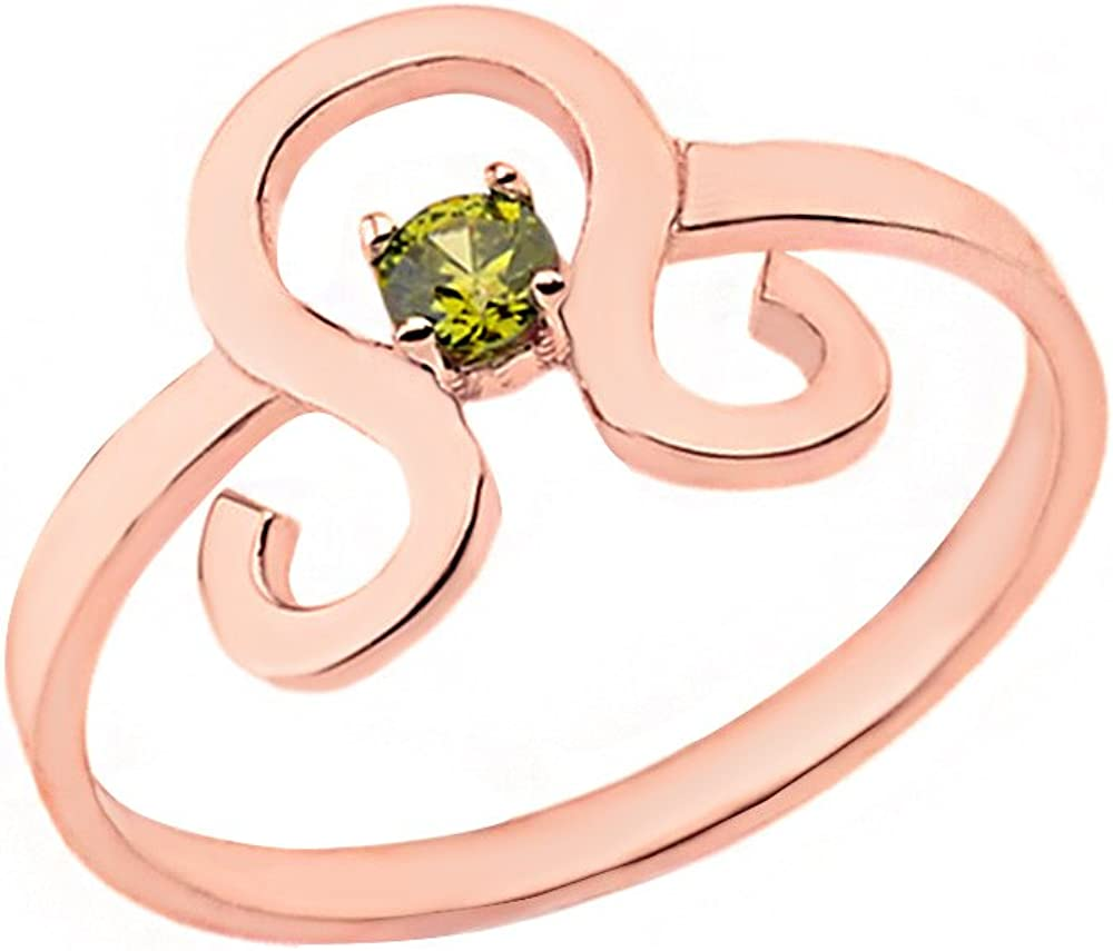 CaliRoseJewelry White Gold 14k Sagittarius Horoscope Zodiac Ring