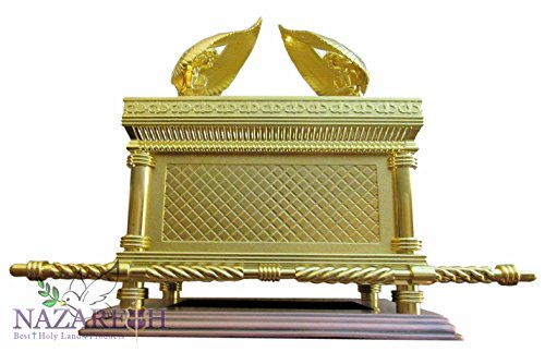 Judaica Gold Ark of the Covenant Testimony Copper Base 17'' Extra Large Size by Nazareth Market Store