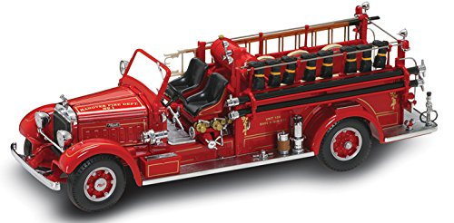 1935 Mack Type 75BX Fire Engine diecast model truck 1:24 scale die cast by Signature Yat Ming - 20098 (Fire Signature Engine)