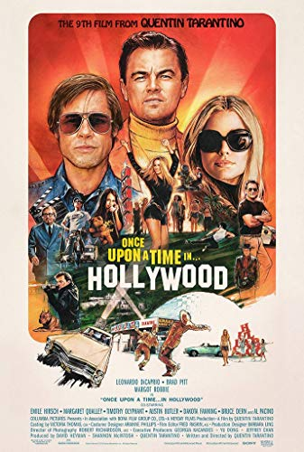 Once Upon a Time in Hollywood Movie Poster 24in x 36in Leonardo Dicaprio Brad Pit Quentin Tarantino Margot Robbie (The Best Posters Of All Time)