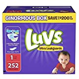 Health & Personal Care : Branded Luvs Ultra Leakguards Newborn Diapers Size 1, 252 ct. (diapers - Wholesale Price (Bulk Qty at Whoesale Price, Genuine & Soft Baby diaper)