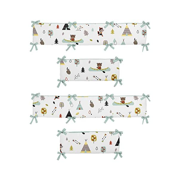 Sweet Jojo Designs Outdoor Adventure Collection Crib Bumper