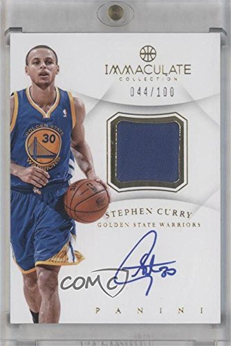 Stephen Curry #44/100 (Basketball Card) 2012-13 Panini Immaculate Collection - Autograph Patches - [Autographed] - Ap Collection