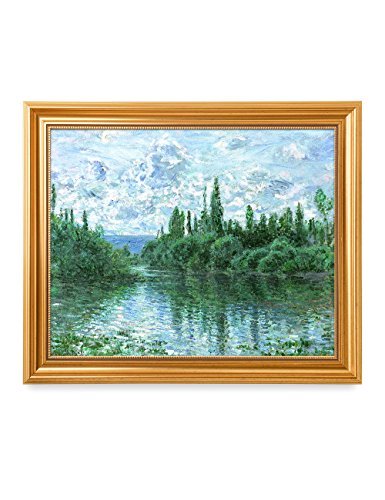 he Seine near Vetheuil, Claude Monet Art Reproduction. Giclee Print& Museum Quality Framed Art for Wall Decor. (Arms Poster Print)