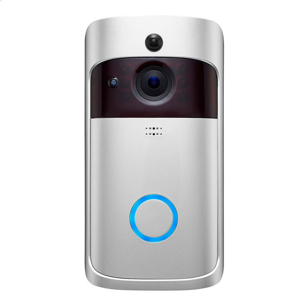 WAWRR Intelligent WIFI video doorbell,WiFi Doorbell Wireless Real-Time Video and Two-Way Talk, Night Vision, Motion Detection