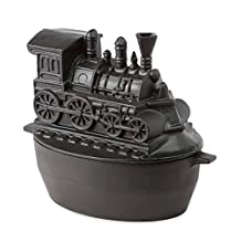 Train Wood Stove Steamer, in Black