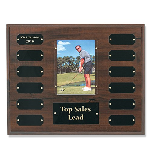 Perpetual Plaque Multi Plate Image Picture Award Cherry Finish - 3 1/2