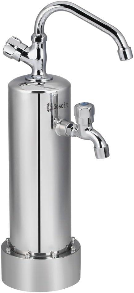 GOSILO Sistema de filtro de agua alcalina, purificador de agua con ...