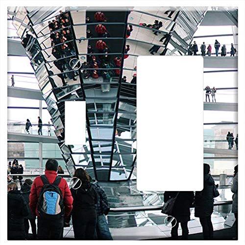 1-Toggle 1-Rocker/GFCI Combination Wall Plate Cover - Berlin Reichstag Dome Government Glass Dome
