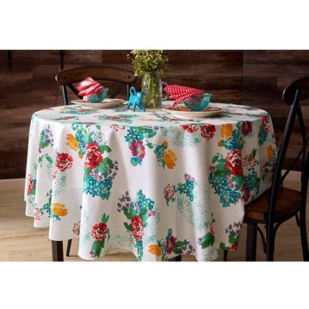 Pioneer Woman Tablecloth Floral Country Garden Round 70