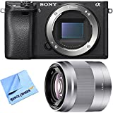 Sony ILCE-6300 a6300 4K Mirrorless Camera Body w/ 50mm f/1.8 Telephoto Lens Bundle includes a6300 Camera, 50mm Telephoto Lens and Beach Camera Microfiber Cloth