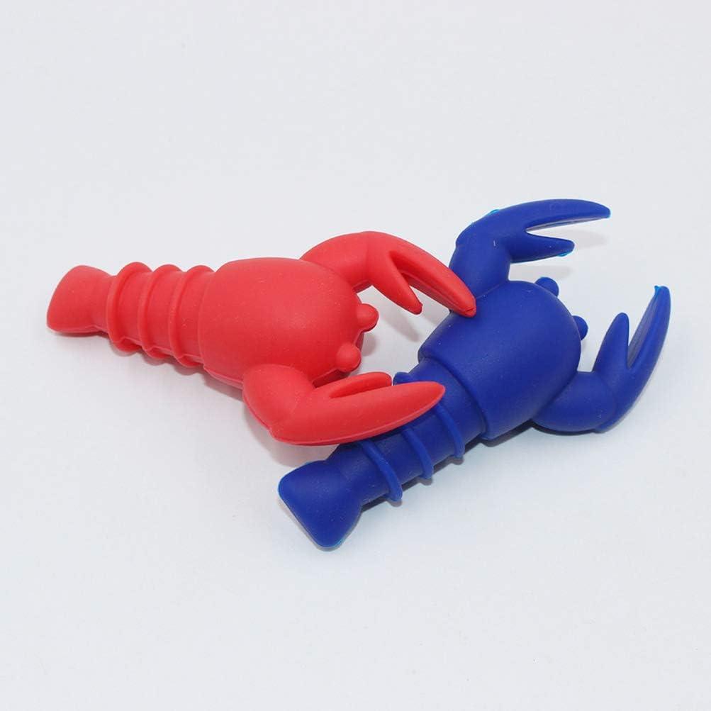 4pcs Wine Stopper Animal Lobster Creative Beverage Stopper Kitchen Tools for Bar