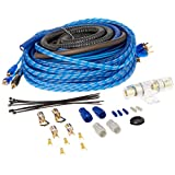 Rockville RWK42 4 Gauge 4 Chan Car Amp Wiring Installation Wire Kit (2) RCA's