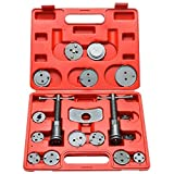 Brake Caliper Piston Compression and Wind Back Set, 18 Piece Kit, Fits Chevy, Toyota, Honda, Ford...