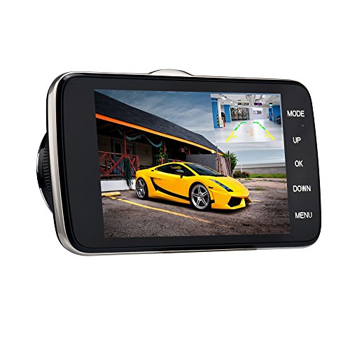 "Christmas Best for Car!!!Kacowpper 4"" IPS Screen Dual Lens C"
