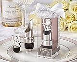 100 ''LOVE'' Chrome Pourer/Bottle Stopper
