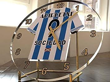 Reloj de sobremesa, diseño de camiseta de fútbol de La Liga española, color Real