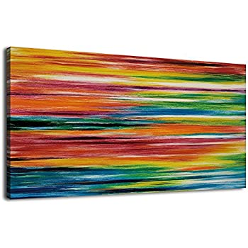 amazoncom decorarts colorful paint abstract wall art