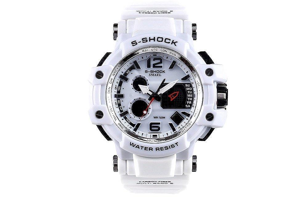 Amazon.com: Relojes de Hombre Moda 2018 Sport LED Digital Military Water Resistant Watch Digital Men RE0075: Watches