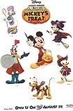 """Disney Single Promo Temporary Tattoo Sheet 4""""x6"""" Mickey Mouse Clubhouse Mickeys Treat"""