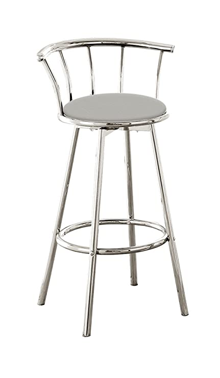 Amazoncom The Furniture Cove 1 24 Chrome Counter Height Bar Stool