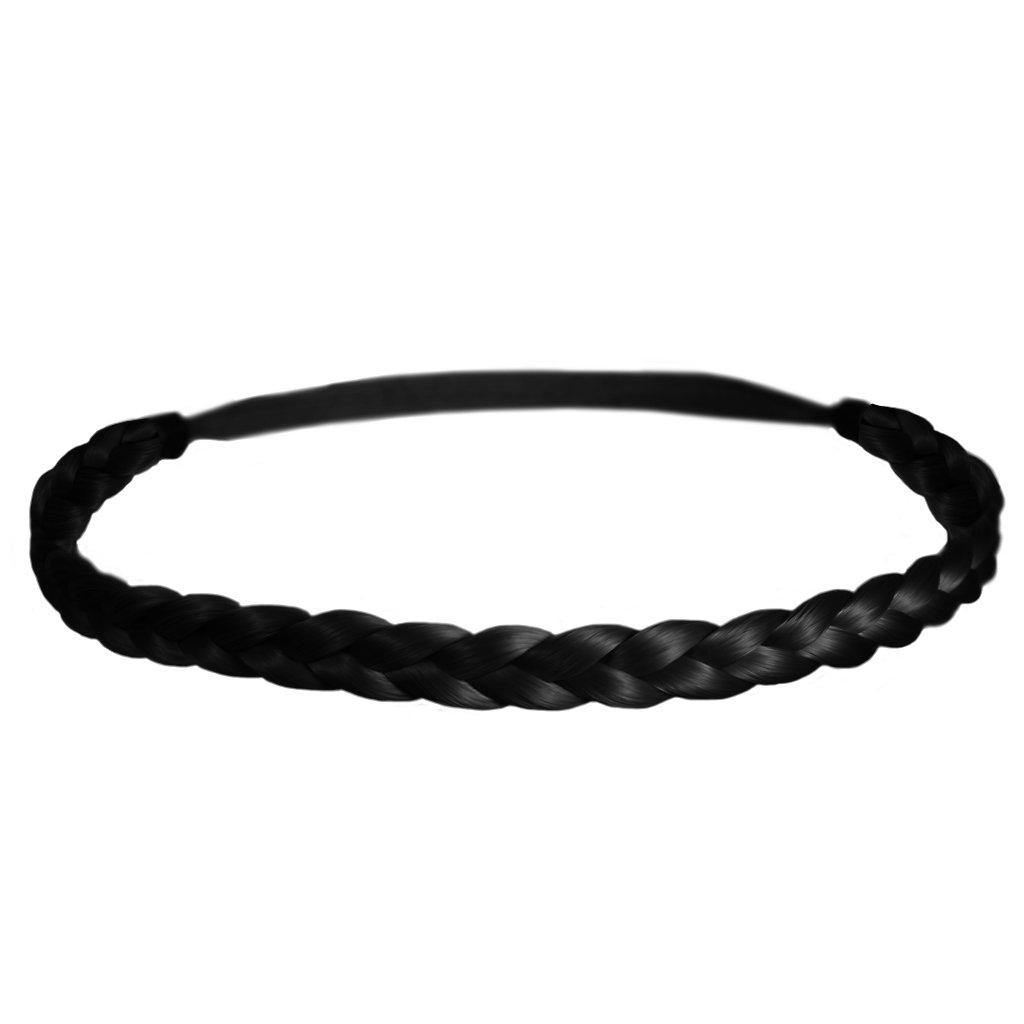 A Black Single Plaited Head//Hair Band
