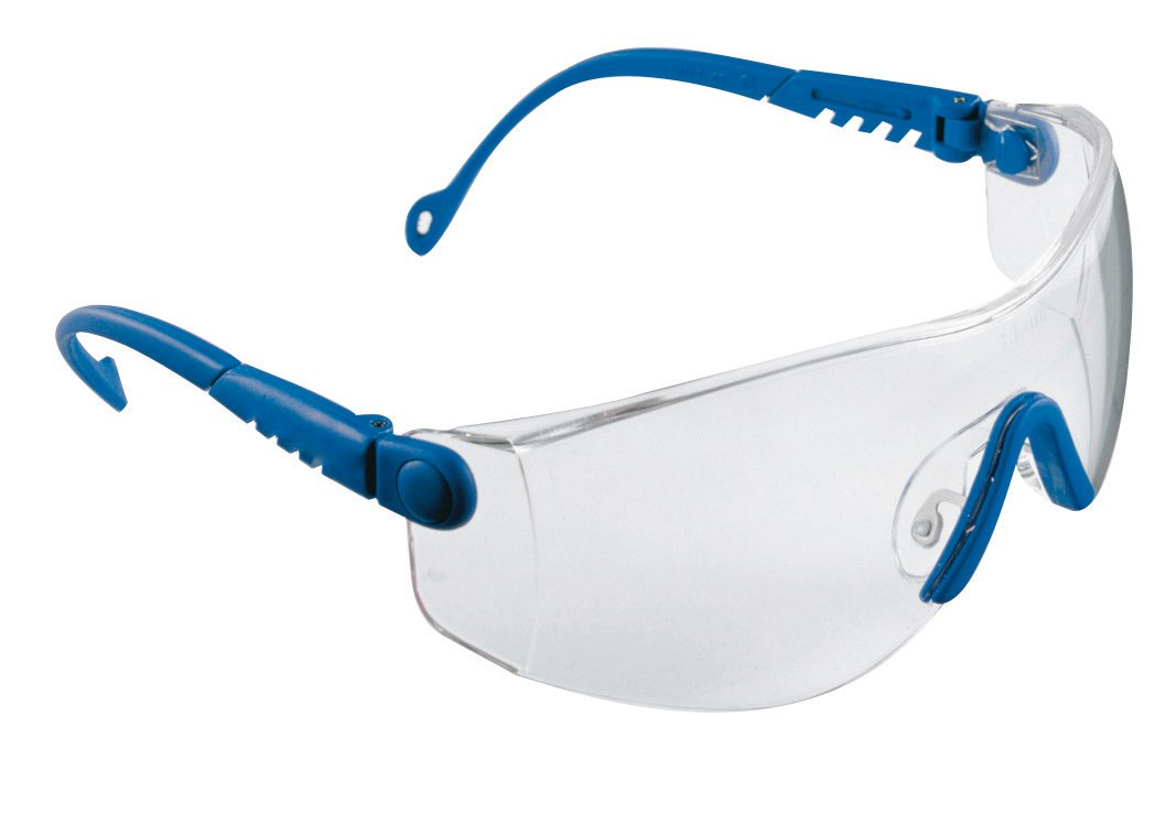 Honeywell 1000018 Op-Tema Safety Eyewear Frame with Clear Anti-Scratch Lens - Blue Pulsafe