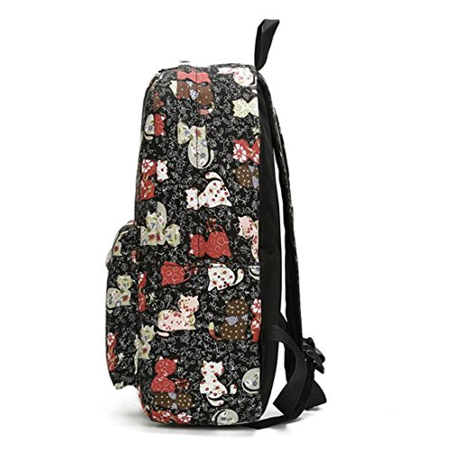 Print Travel 02 04 Korean Shoulder Soft Mochila Girls Backpack Floral Unisex Schoolbag Bag Graffiti Canvas Backpack Backpacks Women wI7naq4