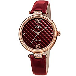 Smooth Leather Strap Three Hand Movement Watch