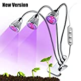 Led Grow Light 15W Plant Growing Lamp With Clip Tripple Head Flexible Full Spectrum Plant Bulbs for Indoor Bonsai Seed Hydroponics Garden Greenhouse Office For Sale
