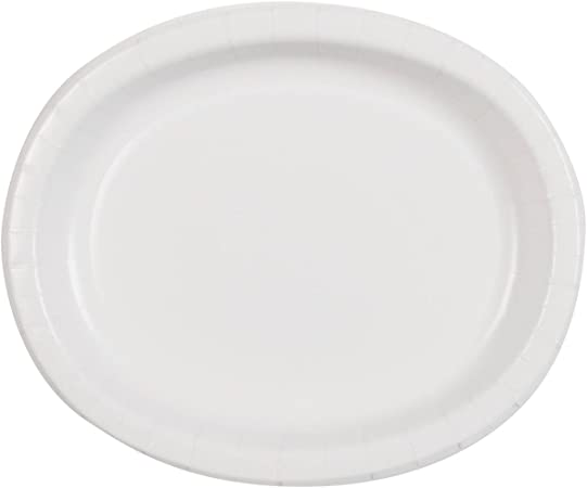 Unique Industries Cake Paper Plates 20 Pieces White Kitchen Dining