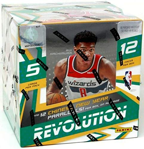 2019-20 Panini Revolution Chinese New Year NBA Basketball Hobby Box 12 packs / 60 cards total. Chinese New Year Parallel…