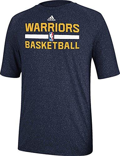 Golden State Warriors Navy Adidas Climalite Practice Short Sleeve T-shirt