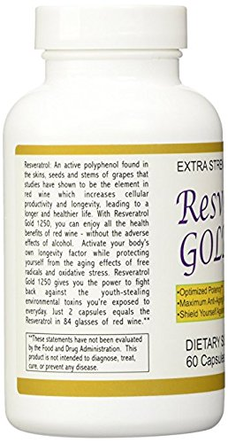 4 Pack - Resveratrol Gold 1250 - Maximum Potency 1250 Mg by YouLookLight-Canada (Image #2)