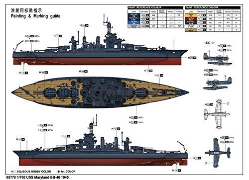 トランペッター 1/700 米海軍 コロラド級戦艦 BB-46 メリーランド 1945【並行輸入品】