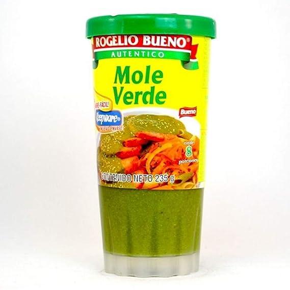 Rogelio Bueno Mole Verde - 6 Paquetes de 235 gr - Total: 1410 gr