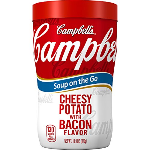 Campbell's Soup on the Go, Cheesy Potato with Bacon Flavor, 10.9 Ounce (Pack of 8)