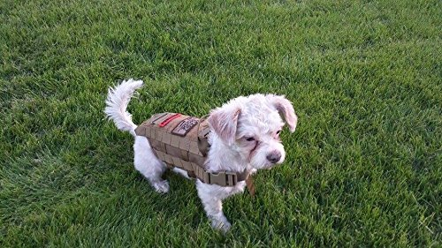 OneTigris Tactical Dog Training Molle Vest Harness (Coyote Brown, S / 33.5 cm)