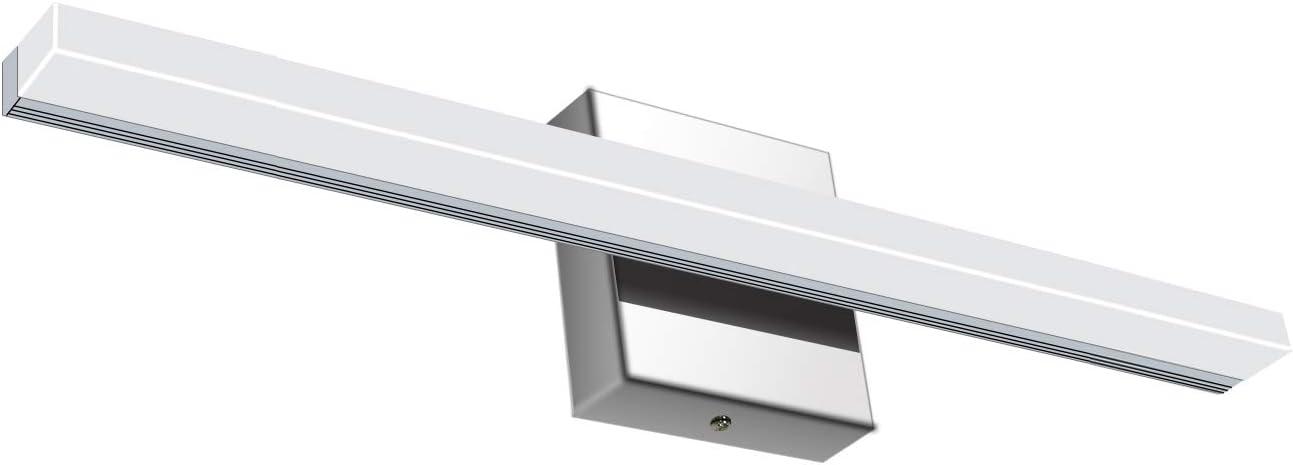 Vanity Light 12W 19.88inches LED Acrylic Rectangle Tube Daylight White 4500K for Bathroom Bedroom YHTlaeh Vanity Light