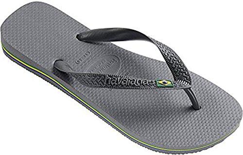 Havainas Havaianas Unisex Flip Flop Logo Para Strand Sandaler - Flip Flop Havaianas Brasil -cinza