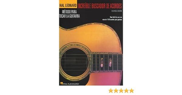 Increíble Buscador de acordes. Para Guitarra: HAL LEONARD: Amazon ...