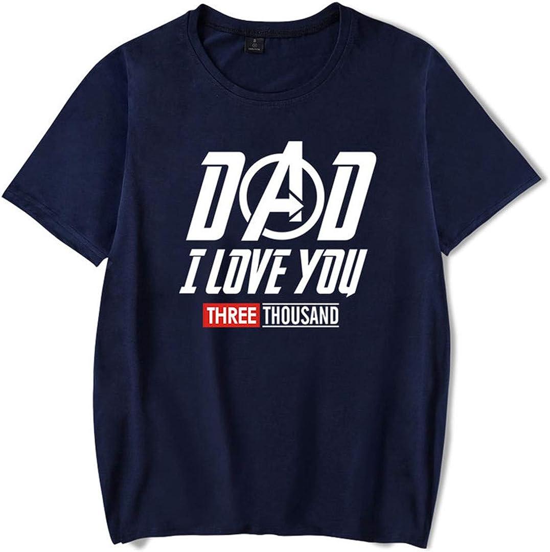 Silver Basic Sportiva Camicia Manica Corta Dad I Love You 3000 Tshirt Avengers Endgame Kids Maglietta