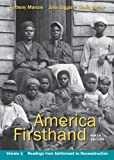 America Firsthand, Volume I 9780312656409