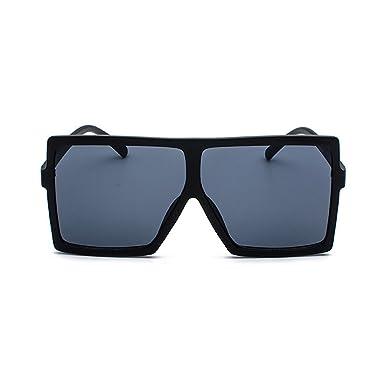 Inlefen Gafas de sol de gran tamaño para las mujeres Gafas de sol de la vendimia Hombres Gafas de gafas grandes del marco